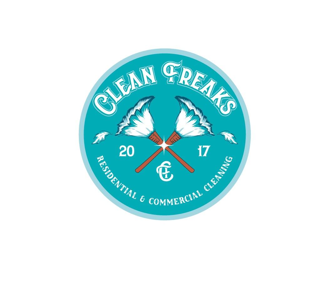 GUARANTEED: Retro, Pin up,  and Fun Cleaning Company Logo