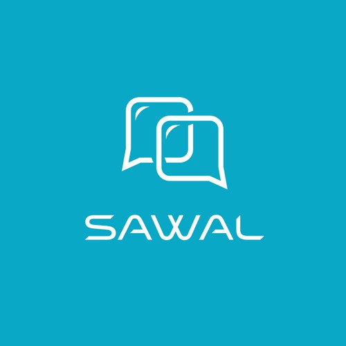 "Logo design for ""Sawal"" app."
