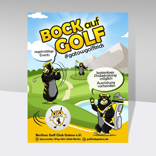 Fresh &Catchy Golf Junior Poster