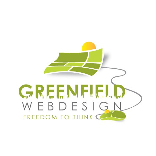 Creëer een uniek en aantrekkelijk logo voor Greenfields webdesign