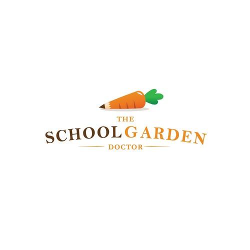 "Logo for ""The School Garden Doctor"""