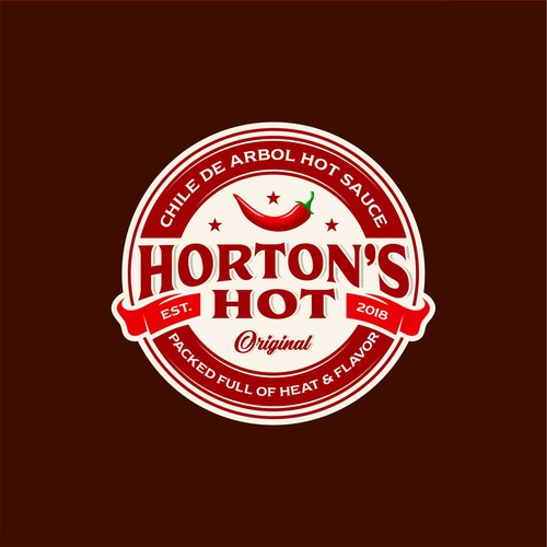 Logo concept for Horton's Hot spicy sauce