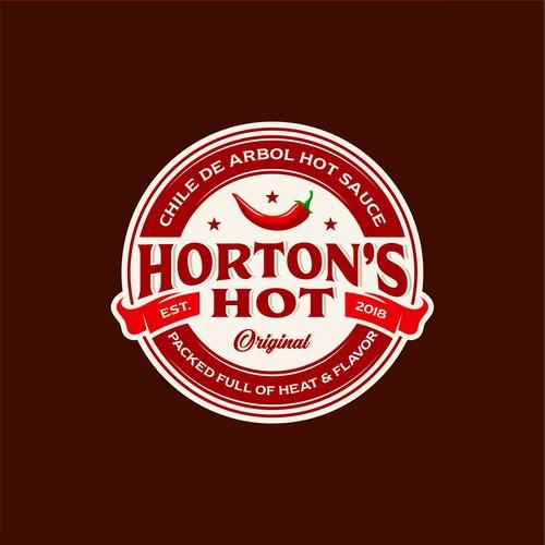 Logo concept for Horton's Hot spicy sauce
