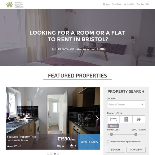 New Website Design for Bristol Quality Lettings