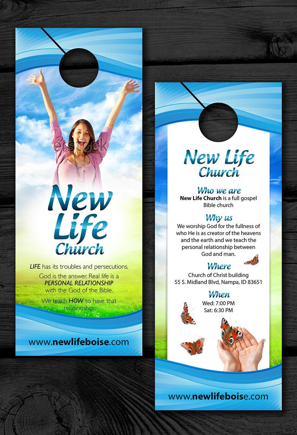 New Life Church needs a new postcard or flyer