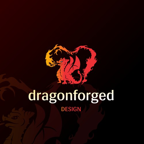 logo and social media pack for dragonforged.d
