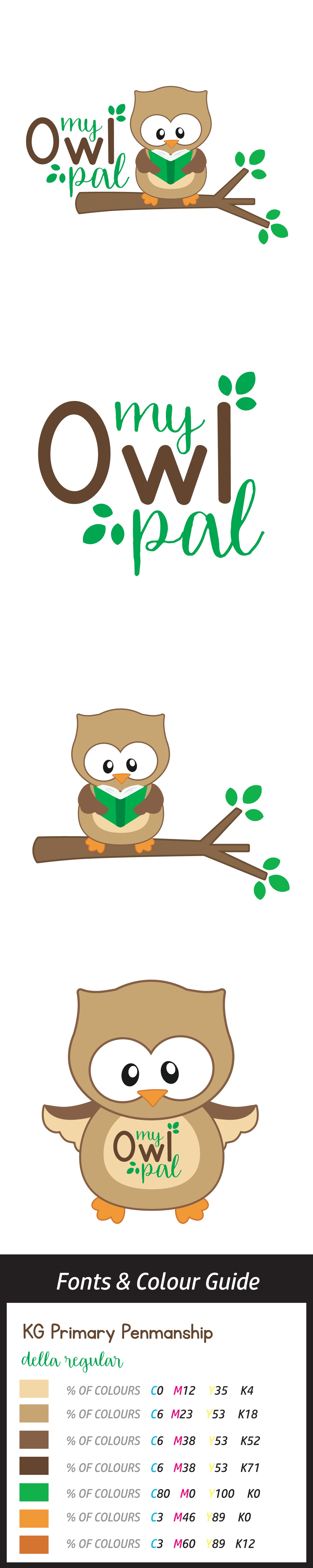 """Create a playful logo for the book and toy,  """"My Owl Pal"""""""