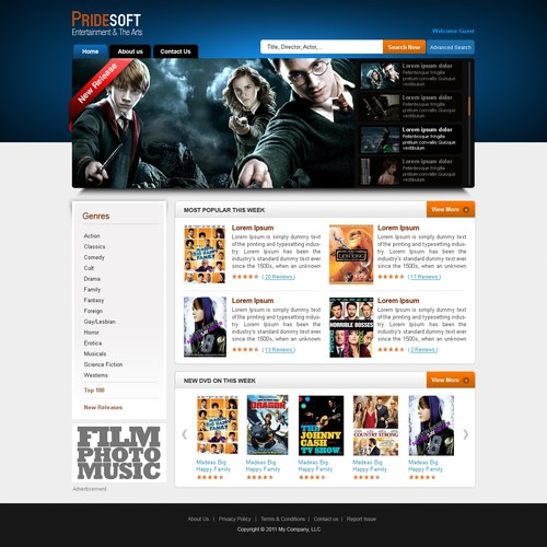 Website Design for Niche Movie Website