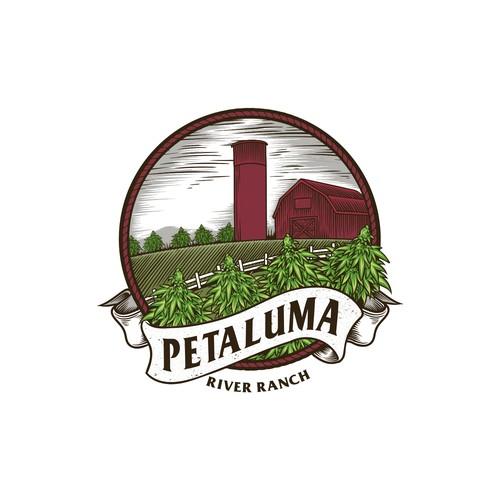 Petaluma ranch label design
