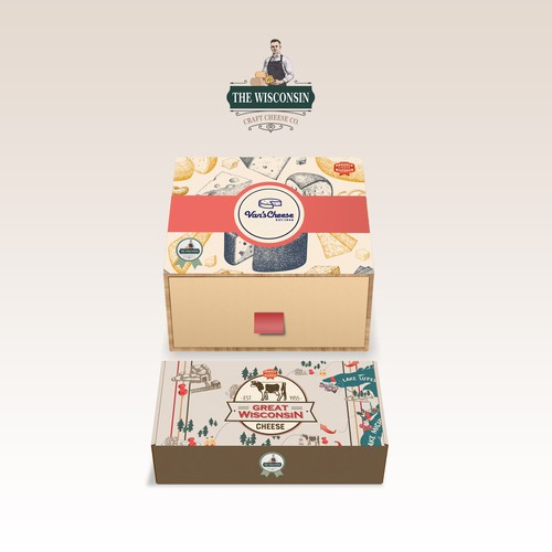 THE WISCONSIN CHEESE - BOX MOCKUPS
