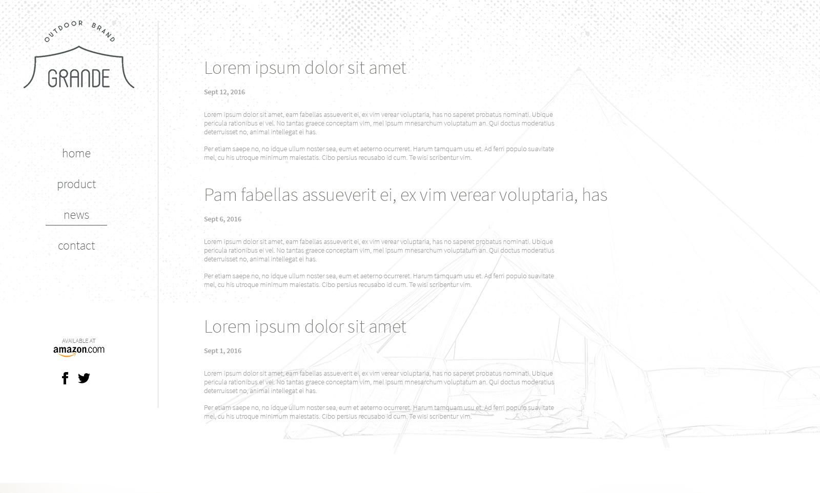 新しいアウトドアギアメーカーのWebサイトデザイン