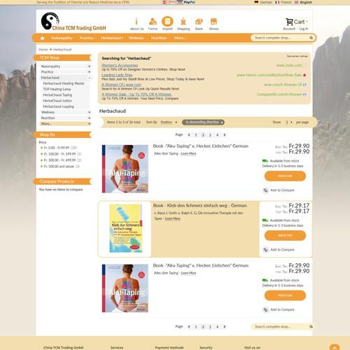 TCM web shop facelift
