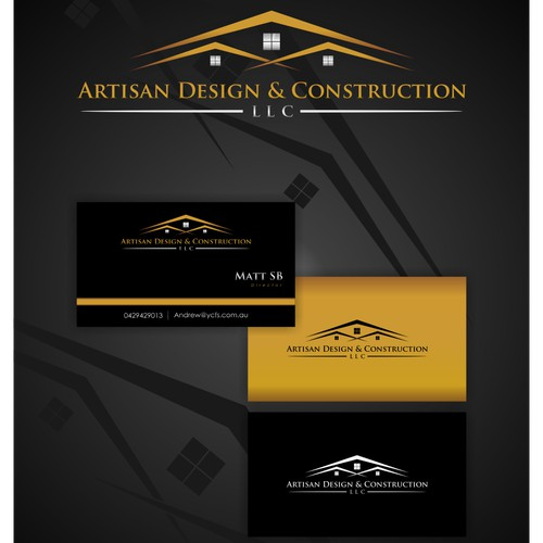 Create an artisan logo for Artisan Design and Construction, LLC!