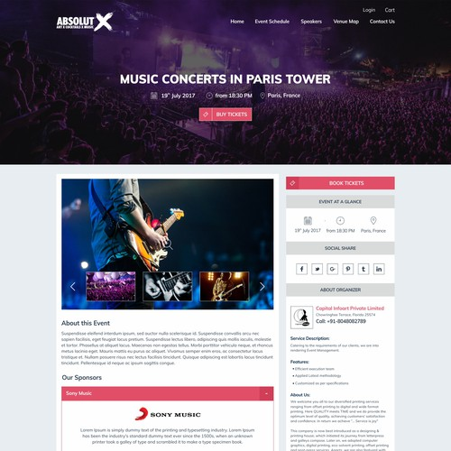 Ticket Booking Site Design
