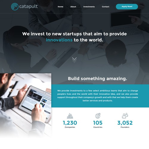 Website concept for Catapult