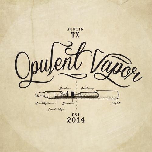 Logo design concept Opulent vapor