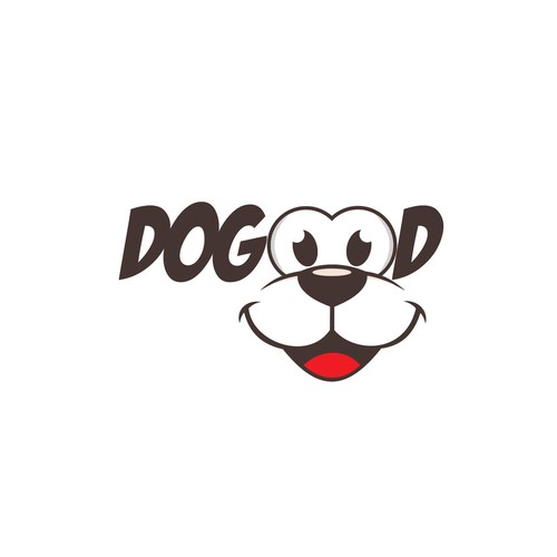Logo for a pet brand with emphasis on giving backbto rescue dogs
