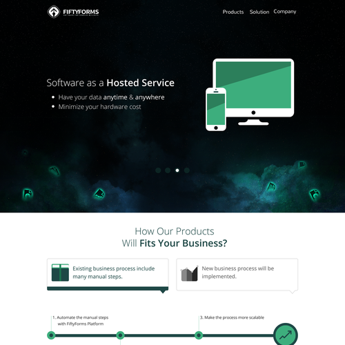 FiftyForms - Web for Modern Software Company
