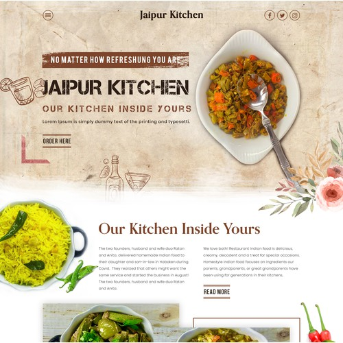 Jaipur Kitchen Website redesign