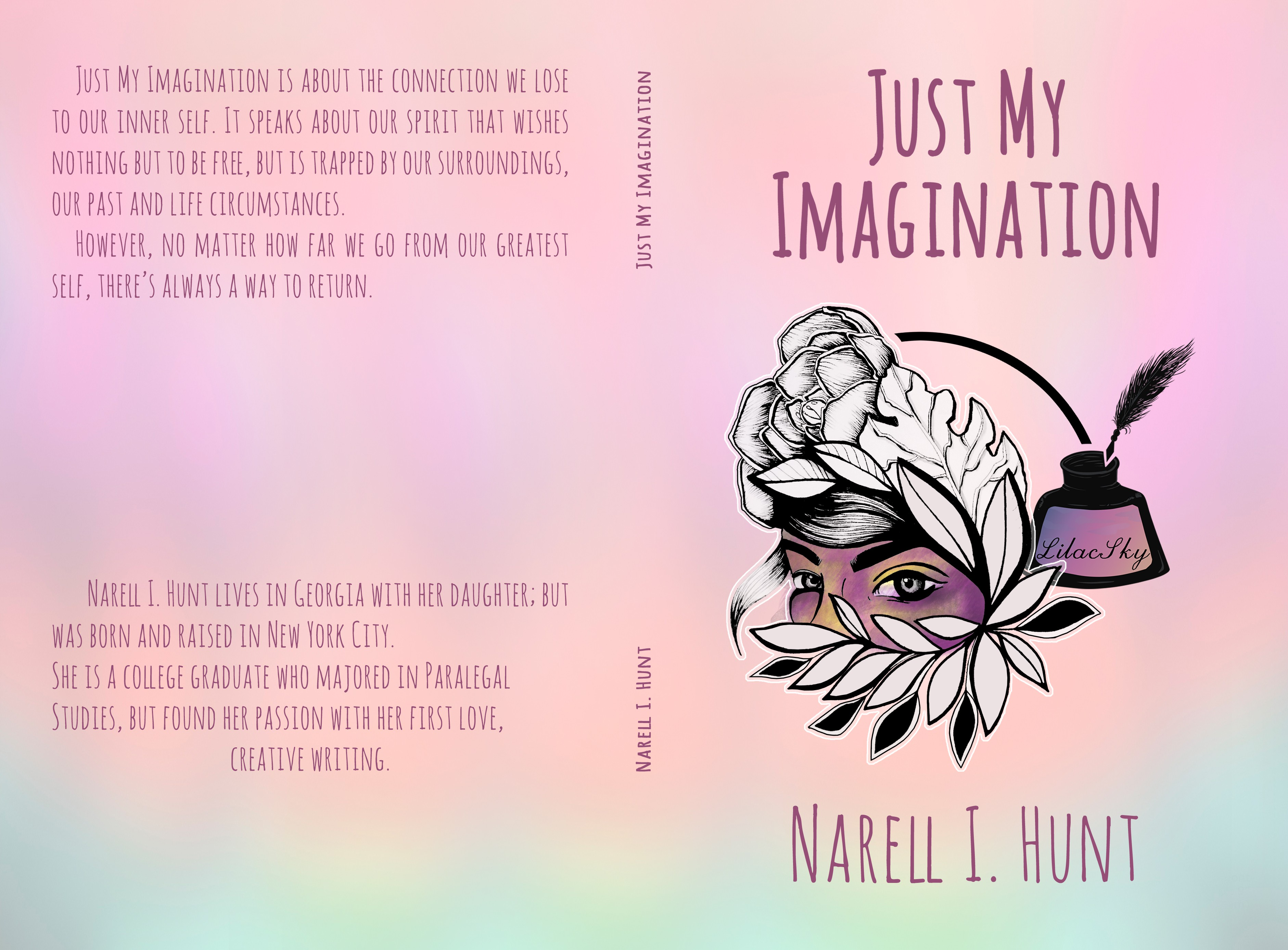 """Explore your creativity by bringing to life a book cover for novel """"Just My Imagination"""""""