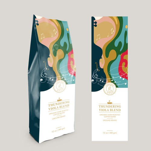 Package design for coffee brand