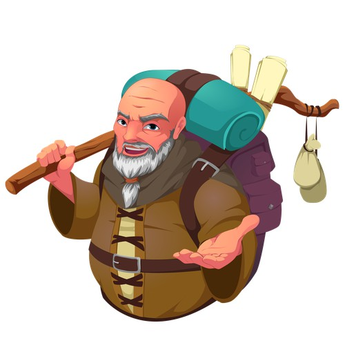 Merchant character for mobile game