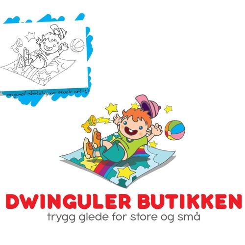 Cartoon logo for online store