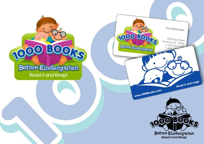 Create a winning logo for 1000 books before kindergarten