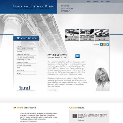 Create a sleek legal website design