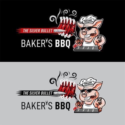 Baker's BBQ Logo