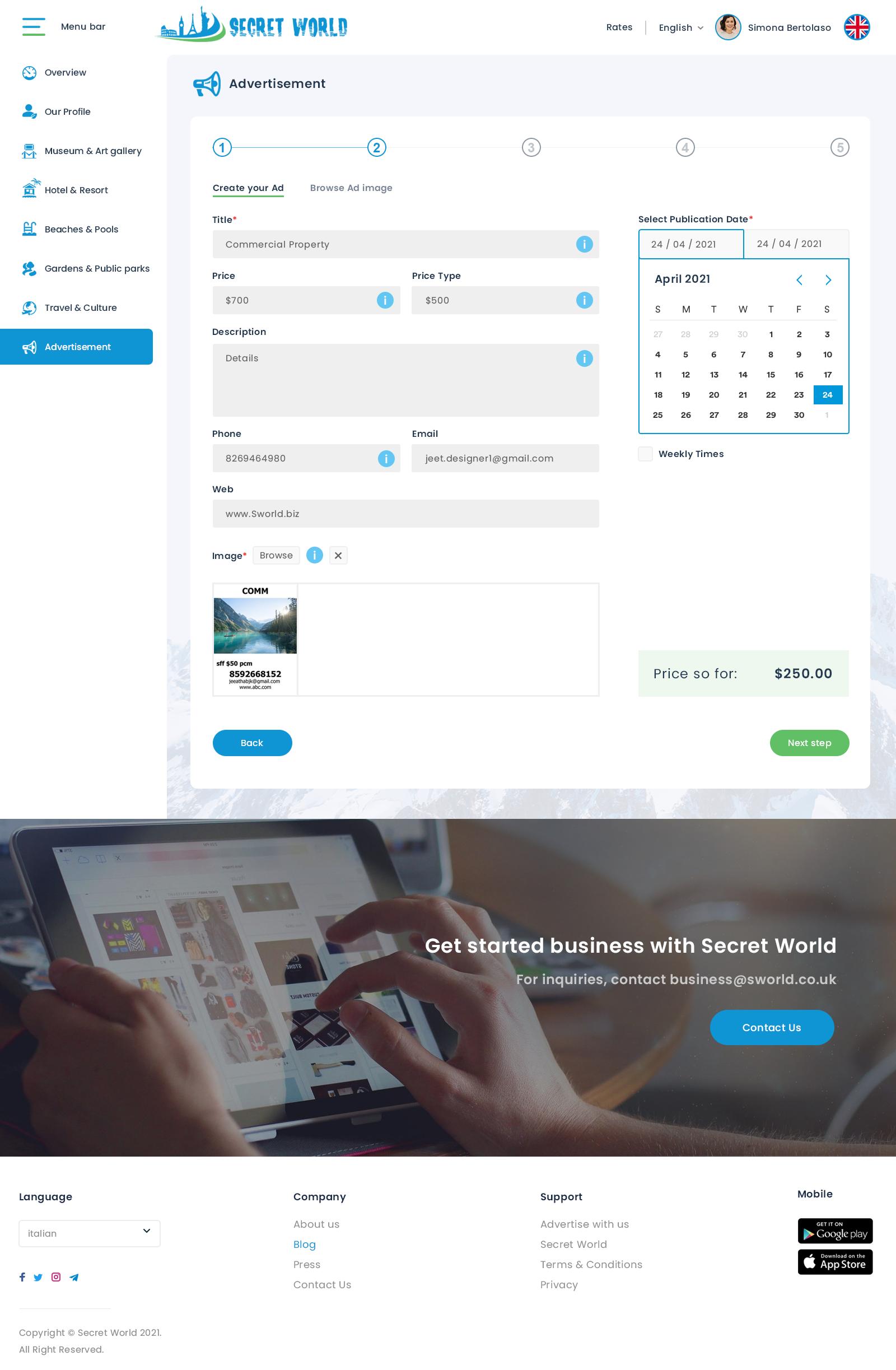 html Business Portal