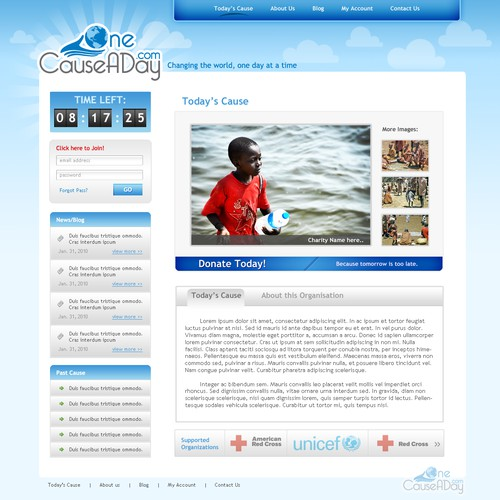 Website for Charity Fundraising Website - OneCauseADay.com