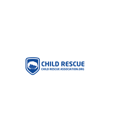 Create a logo for Child Rescue in a shield shape
