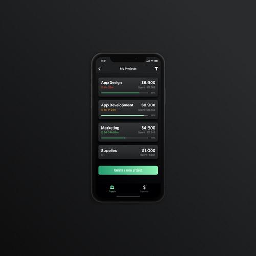 Track UX & UI App Design