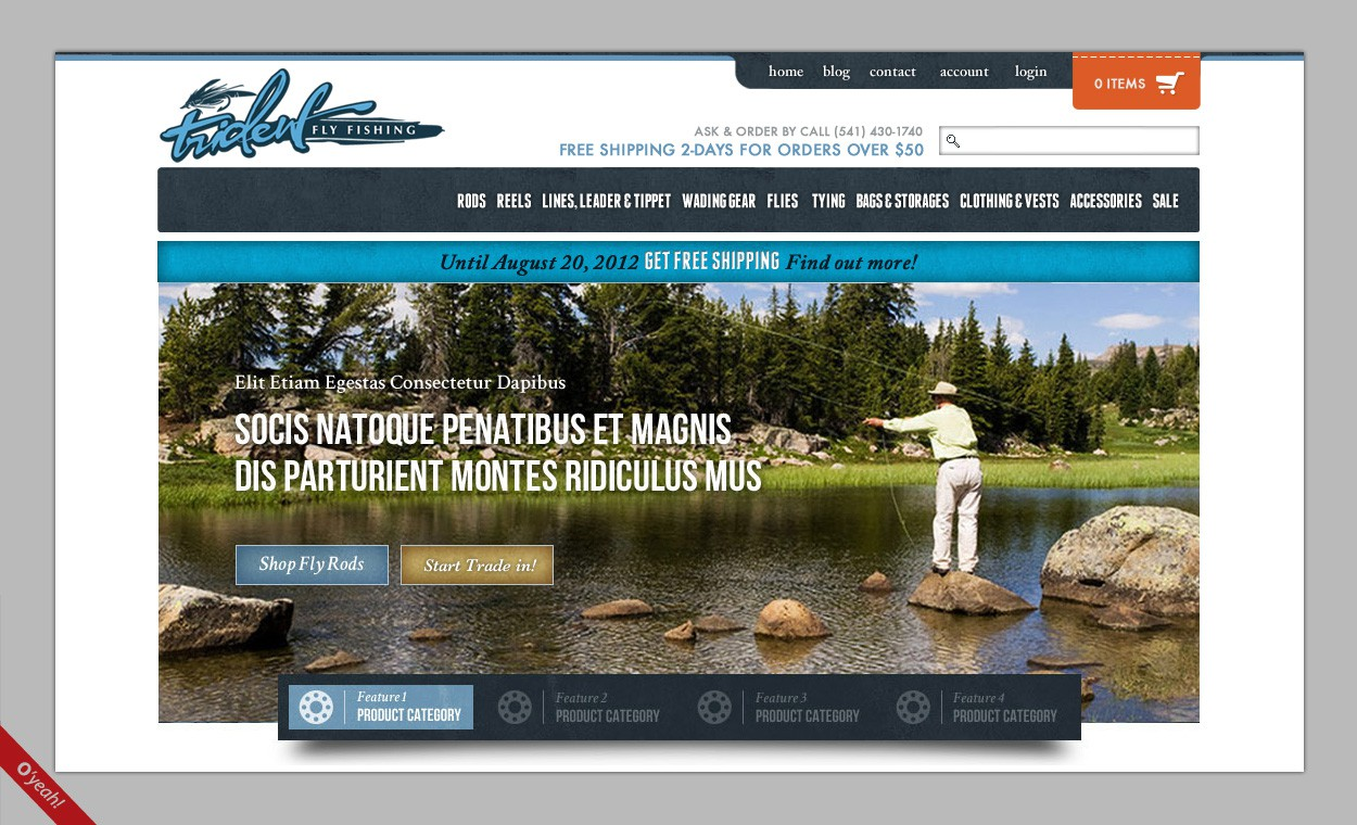 New webpage header wanted for Trident Fly Fishing