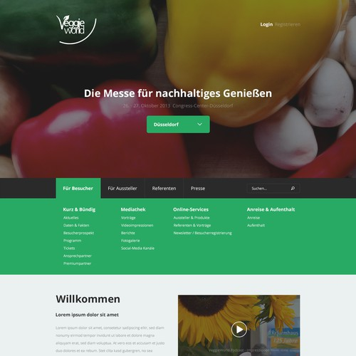 Awesome web design needed: VeggieWorld - Die Messe für nachhaltiges Genießen (fair for fair food trade)