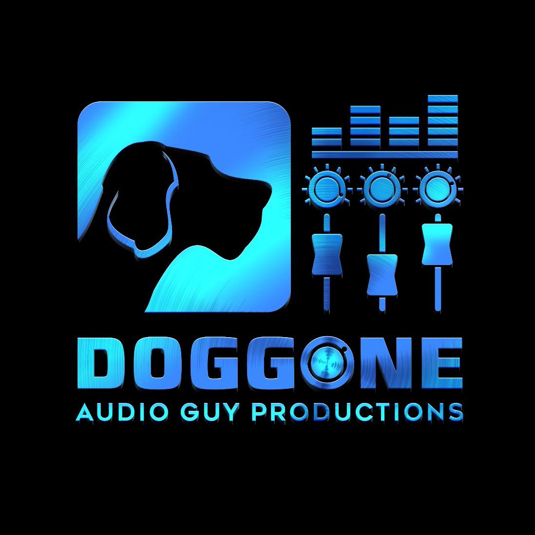 Design a logo for a dog loving, live audio engineer.