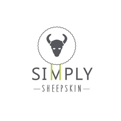 "Simple logo for ""Simply sheepskin"""