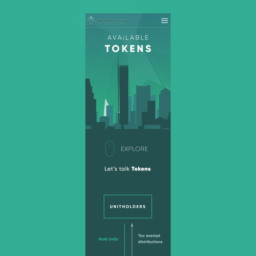 Property ownership on the blockchain Mobile Page