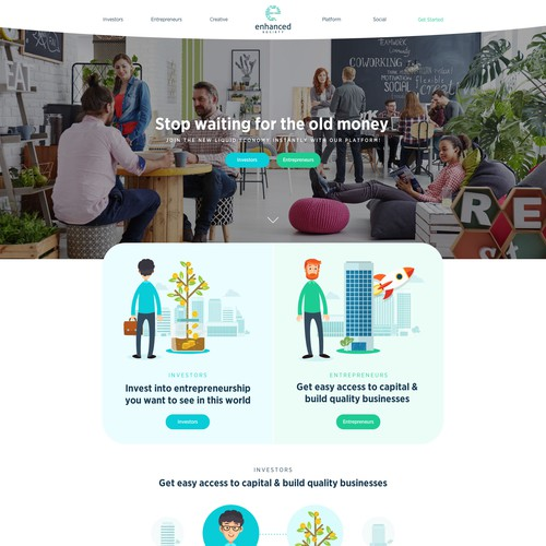 Futuristic Investment Website