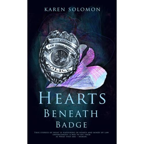 Hearts Beneath the Badge Book Cover Design