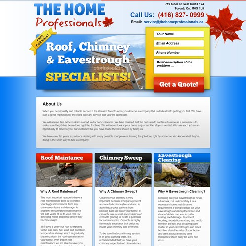 Website Design for The Home Professionals