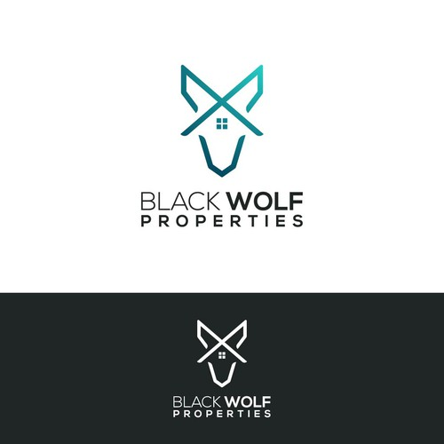 Abstract wolf logo for properties