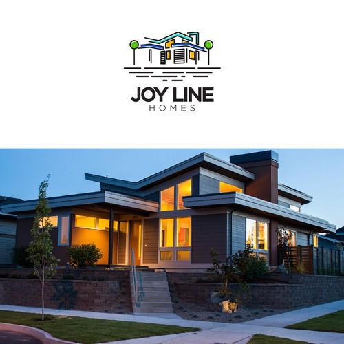 Simple logo design for Joy Line Homes