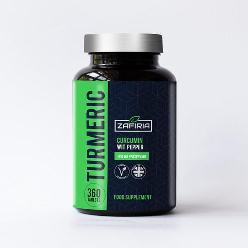 Modern & Bold supplement  Label  design