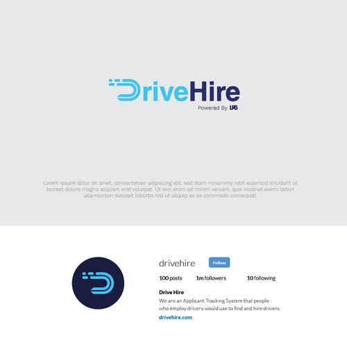 Bold Logo Concept for DriveHire