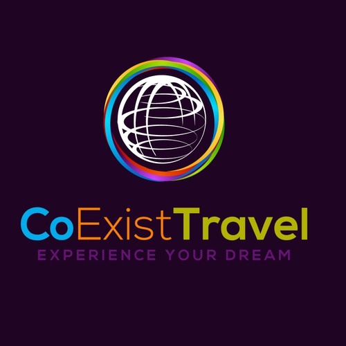CoExist Travel  company logo design