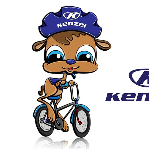 Design a happy and cute mascot for KENZEL bicycles