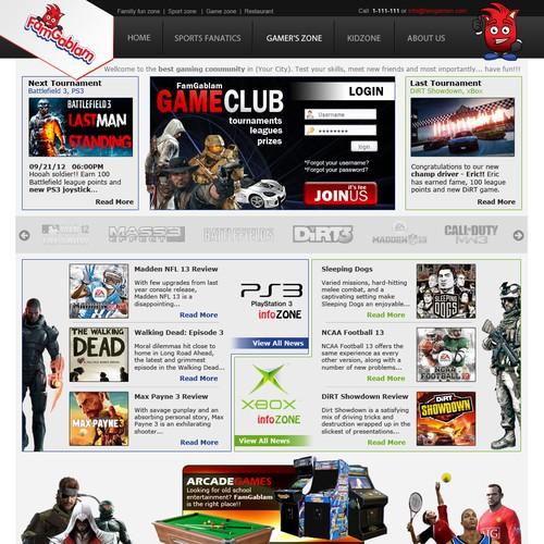 FamGablam needs a new website design
