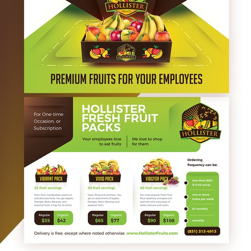 Fruits Delivery Service Postcard / Flyer